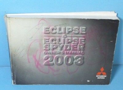03 2003 mitsubishi eclipse eclipse spyder owners manual 5 47 rh picclick co uk 2000 Mitsubishi Eclipse Spyder 2003 mitsubishi eclipse spyder repair manual