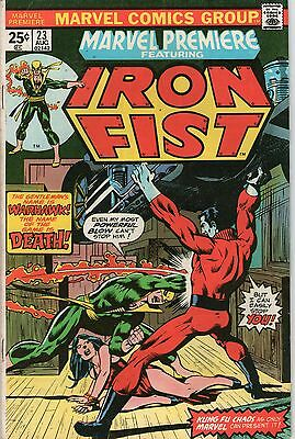 Marvel Premiere # 23 - Iron Fist - Warhawk ( Nd - 1975 )