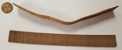 """VINTAGE SOLID BRASS MESH FLEX 9mm. WIDE 7"""" CHAIN SECTION N453"""