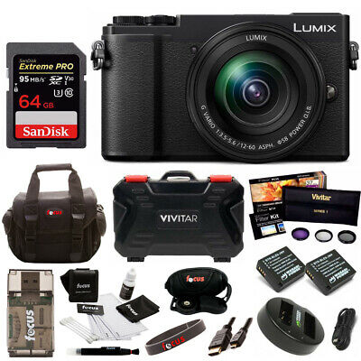 Panasonic Lumix DC-GX9MK 4K Mirrorless with 12-60mm 64GB Bundle