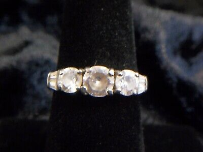 925 Silver Ring with CZ stones, Size 7, VERY NICE, FREE SHIPPING