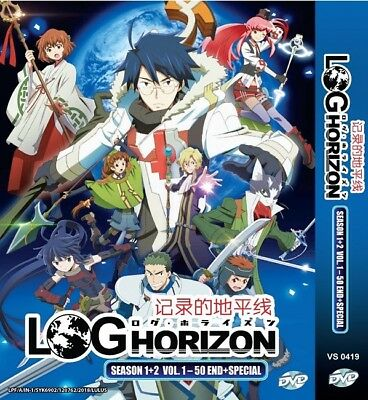 *Neu* LOG HORIZON Box | S1+S2+Sp. | Eps.1-51 | English Audio! | 4 DVDs (VS0419)