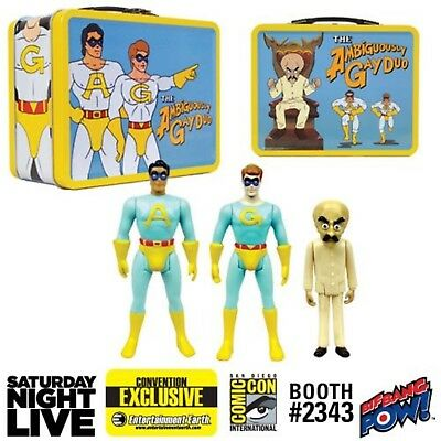 Ambiguously Gay Duo Metal Lunch Box Gary Ace Bighead Figures ComicCon Exclusive
