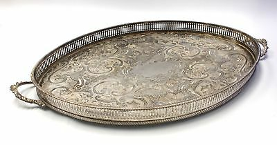 Large ARTHUR PRICE Twin Handle SILVER PLATE Serving Tray 44cm  - C60