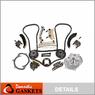07-15 Cadillac Buick Chevrolet GMC Pontiac 3.6L 3.0L Timing Chain Kit Water Pump