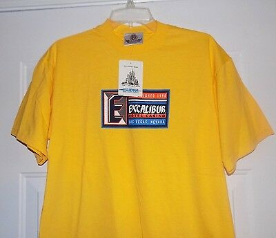 EXCALIBUR Hotel & Casino Graphic T-shirt Men's Medium M NEW WITH TAGS NWT Shirt