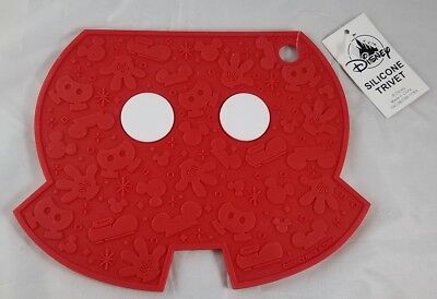 Disney Parks Silicone Trivet Mickey Mouse Body Kitchen Hot Plate Mat - NEW