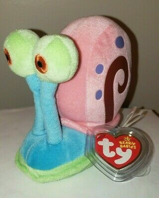 Ty Beanie Baby ~ GARY the Snail (From Spongebob Squarepants) MWMT