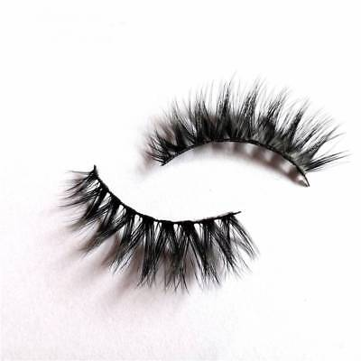 2Pcs 3D Mink Natural Thick False Fake Eyelashes Handmade Lashes Makeup Extension