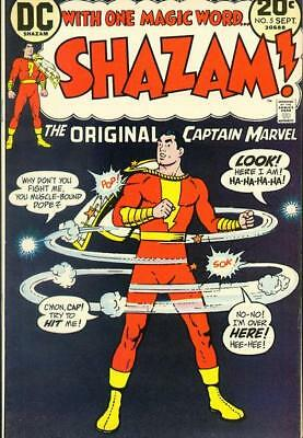 SHAZAM #5 VG, CAPTAIN MARVEL CAPTAIN MARVEL JR. Origin retold, DC Comics 1973