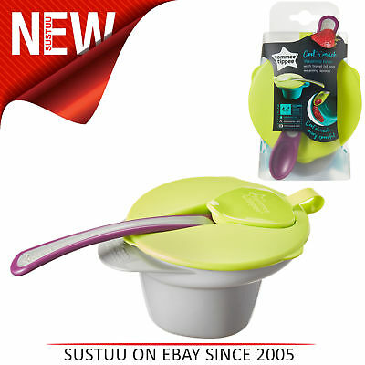 Tommee Tippee Explora Cool and Mash Weaning Bowl With Leakproof Lid & Spoon│4m+