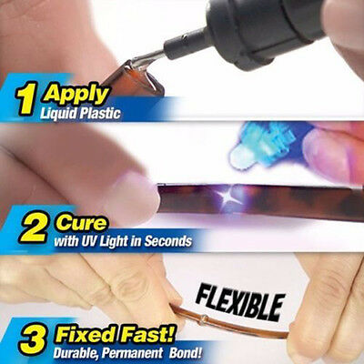 5 Second Fix UV Light Cure Welding Compound Glue Pen Plastic Wood Pro Repair Kit