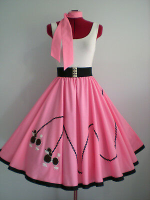 "ROCK N ROLL/ROCKABILLY  ""POODLE"" SKIRT-SCARF M-L Lolly Pink."