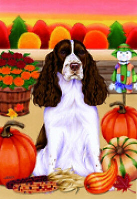 Large Indoor/Outdoor Autumn Flag - English Springer Spaniel (TP) 67080