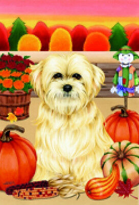 Large Indoor/Outdoor Autumn Flag - Lhasa Apso (TP) 67040
