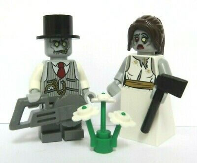 Lego Zombie Bride & Groom Minifigure Figure Monster Halloween Wedding