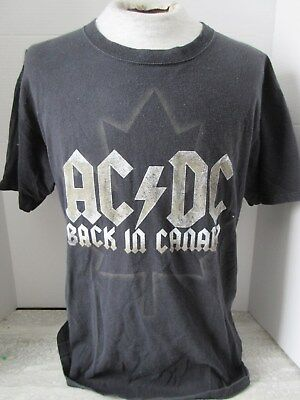 2009 AC/DC Back in Canada Sold Out Tour T-Shirt Anvil Size Large