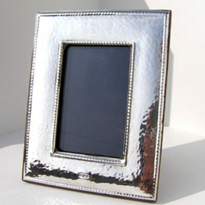 Silver Photo Frame.  Hallmarked Sterling Silver Art Nouveau Style Picture Frame