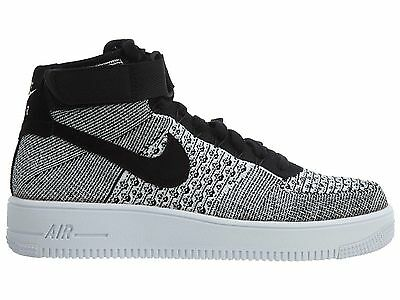 Nike Air Force 1 Ultra Flyknit Mid Blancos Hombres 817420 102 Zapatos Blancos Mid df1941