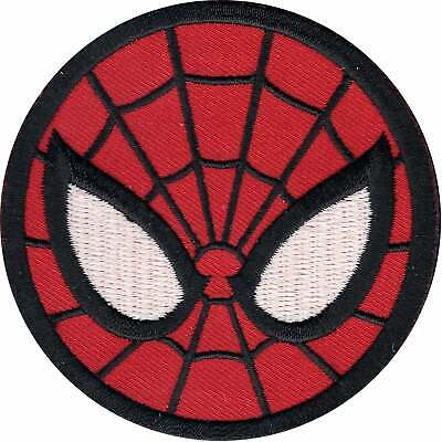 Official Marvel Comics The Amazing Spiderman Mask Iron on Applique Patch