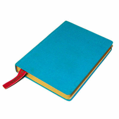 Polo Ralph Lauren Hardcover Canvas Lined Notebook Journal Diary Turqoise Blue