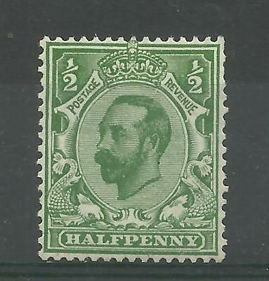 1912 Royal Cypher Sg 334, 1/2d Pale Green, Die B, Booklet stamp Downey Head UnMM