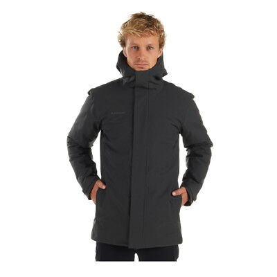 100% authentic 5250a 20d7d MAMMUT CHAMUERA HS Thermo Hooded Parka Herren Wintermantel graphite