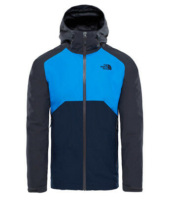 The North Face Stratos Jacket Herren Regenjacke Asphalt Grey-Bomber Blue