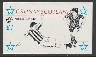 GB Locals GRUNAY 7465 - 1982 FOOTBALL WORLD CUP souvenir sheet u/mint