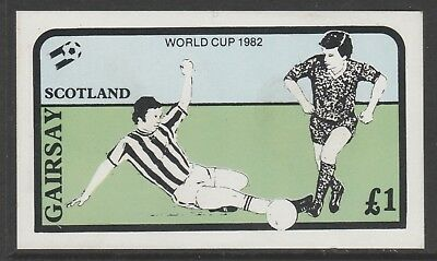 GB Locals GAIRSAY 7468 - 1982 FOOTBALL WORLD CUP souvenir sheet u/mint