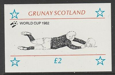 GB Locals GRUNAY 7474 - 1982 FOOTBALL WORLD CUP deluxe sheet u/mint