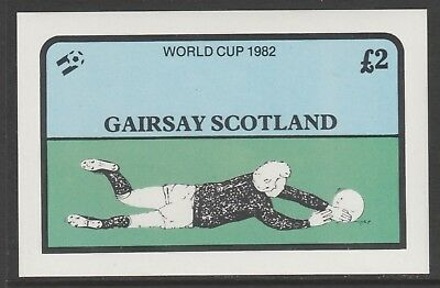 GB Locals GAIRSAY 7476 - 1982 FOOTBALL WORLD CUP deluxe sheet u/mint
