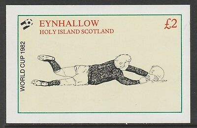 GB Locals EYNHALLOW  7477 - 1982 FOOTBALL WORLD CUP deluxe sheet u/mint
