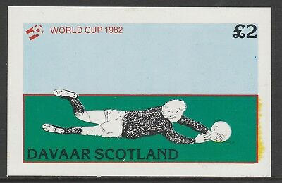 GB Locals DAVAAR  7478 - 1982 FOOTBALL WORLD CUP deluxe sheet u/mint