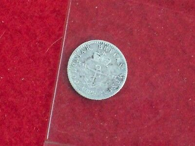1822 British Colonies anchor coinage, 1/16 dollar