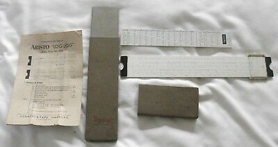 Vintage Aristo slide rule No. 966 in original box with instructions