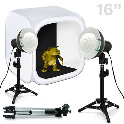 "Lusana Studio 16"" Photo Studio Table Top Lighting Kit with Tripod and Lights"