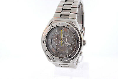 Men's Citizen AT0180-51H Eco-Drive Professional Diver Stainless Gray Dial Watch