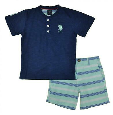 US Polo Assn Boys Navy Top 2pc Mint Short Set Size 2T 3T 4T 4 5/6 7