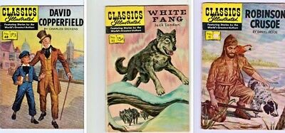 CLASSICS ILLUSTRATED - WHITE FANG February 1951 # 80 HRN 167