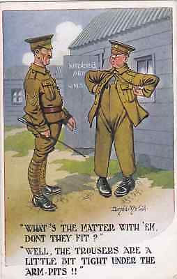 Vintage Stamped Postcard. Comical, Army, Seargent, Soldier.