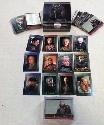 The Game of Thrones / Season 1 / Cards 1-72 / Complete Base Card Set