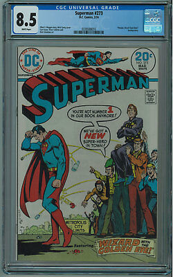 Superman #273 Cgc 8.5 High Grade White Pages 1974