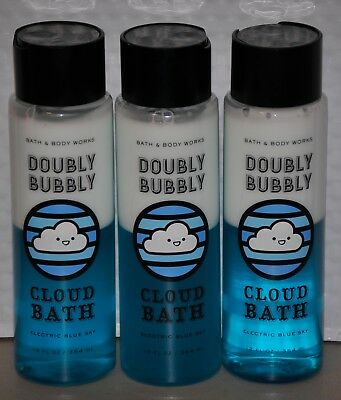 Bath & Body Works Doubly Bubbly Cloud Bath Electric Blue Sky x 3