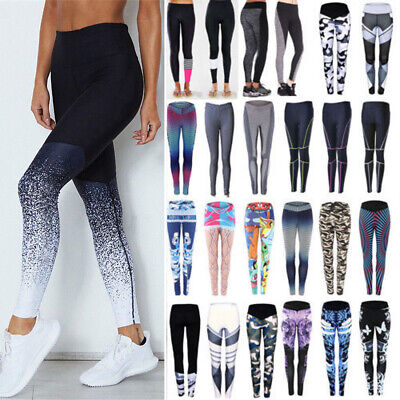 Women High Waist Stretch Leggings Fitness Yoga Pants Athletic Gym Sport Trousers