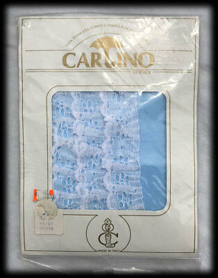 Vintage Carino Italy Seamless Stretch Tights Little Girls Bloomers Ruffles 18-24