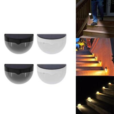 6 LED Solar Powered Fence Stair Wall Light Outdoor Garden Security Lamps Pathway