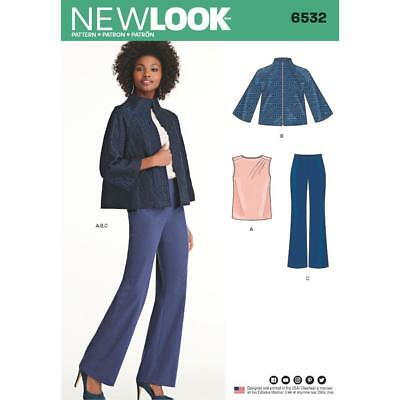 NEW LOOK Nähmuster Damen Strick Oberteil & Leggings Größe XS - XL ...