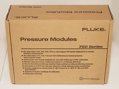 Fluke 750P27 Gage Pressure Module 0-300 Psi 0-20 Bar 0 To 2000 Kpa New