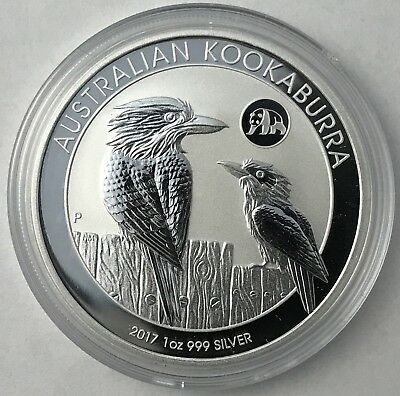 2017 Australian Kookaburra with Panda Privy 1 oz .999 Silver Bullion Coin